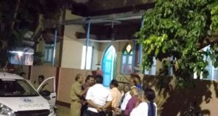 STONES HURLED ON CHURCH IN HUBBALLI