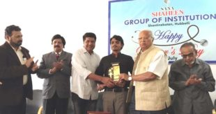 HUBBALLI'S BRAVE BOY ZAID HONOURED BY SANA SHAHEEN COLLEGE
