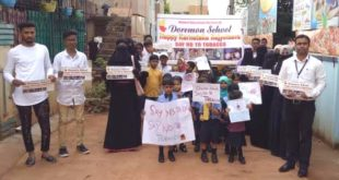 "DOREMON SCHOOL LAUNCHES ""SAY NO TO TOBACCO""CAMPAIGN ON KARNATAKA ROJYOTSAVA"