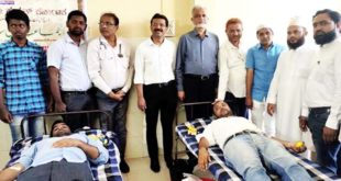 BLOOD DONATION CAMP HELD AS PART OF EID MILAD