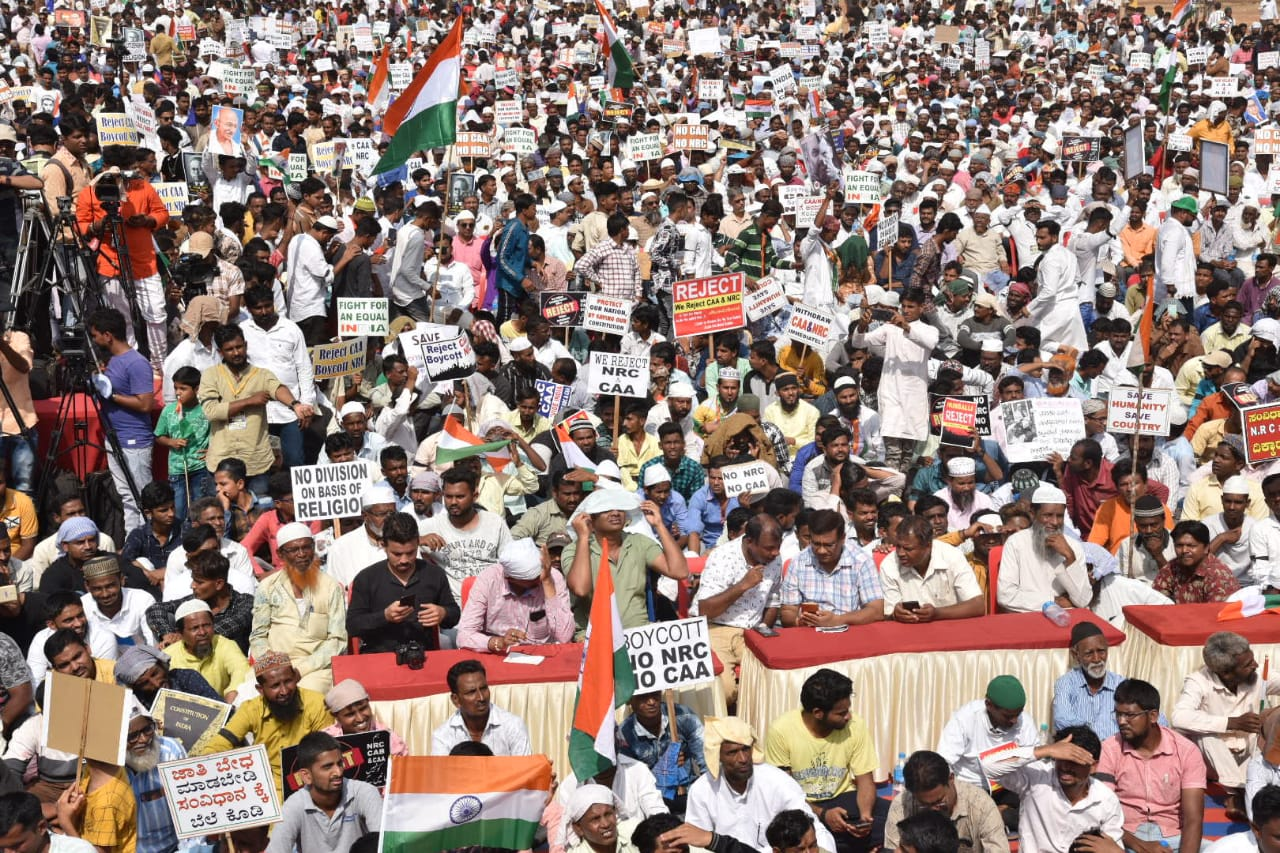 Photo of MASSIVE PROTESTS AGAINST NRC, CAA IN HUBBALLI