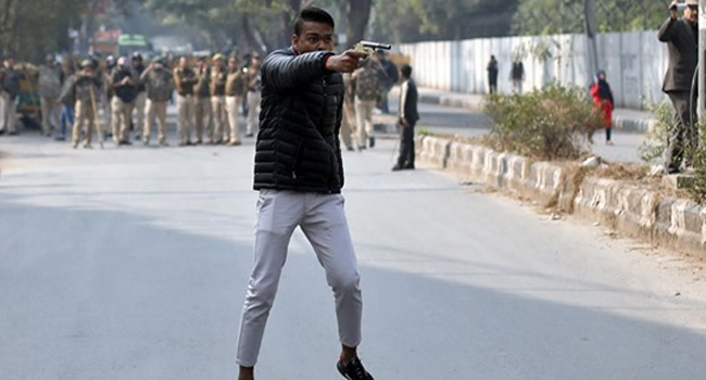 Photo of ANTI-CAA PROTESTERS SHOT AT IN DELHI