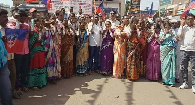 Photo of NOW POURAKARMIKAS COME OUT AGAINST CAA, HOLD PROTEST IN HUBBALLI