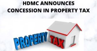 HDMC ANNOUNCES CONCESSION IN PROPERTY TAX