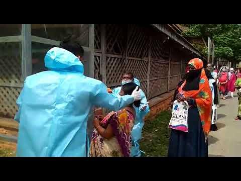 Photo of COVID-19: Pregnant women undergo health checkup at Chittaguppi hospital